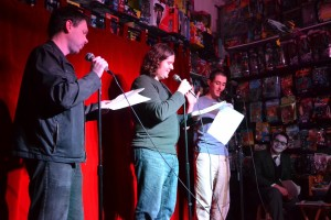 Photo by Katey Falvey. From L-R: Michael McQuilkin, Kevin Harrington, Matt Chaves, Richard Wentworth